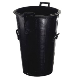 Cubo Basura Negro Sin Tapa    120 Litros   Nº10