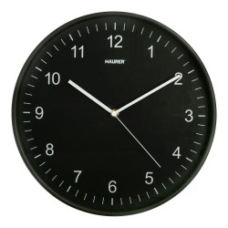 Reloj De Pared Ø 30 cm. Color Negro