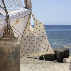 Bata Algodon/Poliester Azul   S