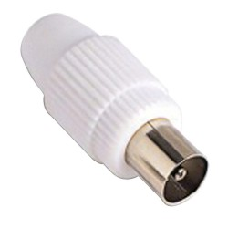 Conector TV Macho Recto 9,5 mm.