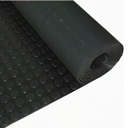 Suelo Circulos 1,20x10 Metros 3 mm. de Grosor Color Negro