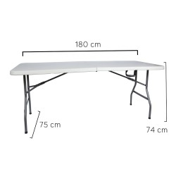 Mesa Plegable Rectangular 180x75x74cm