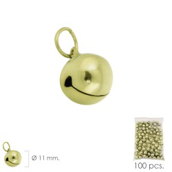 Cascabel Dorado  11 mm.  (Bolsa 100 Unidades)